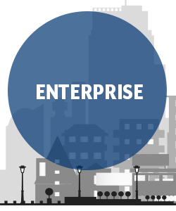 "alt="" Enterprise business image with skyline from Clarity Voice"""
