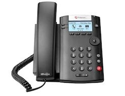 Polycom VVX 201 from Clarity Voice